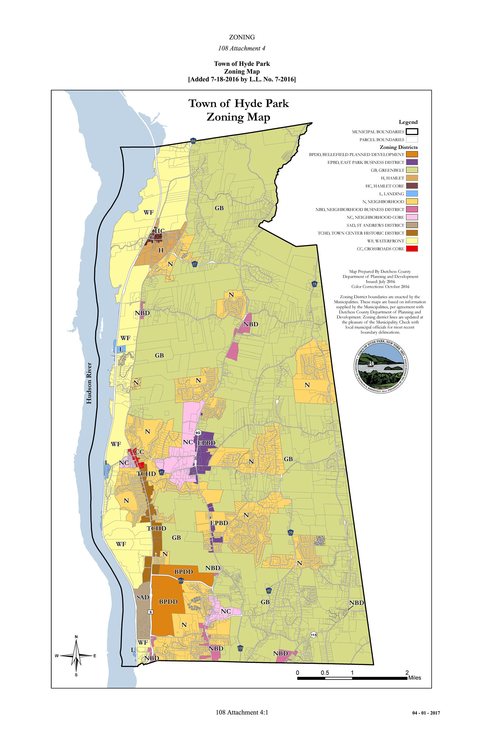 Town-of Hyde Park Zoning Map