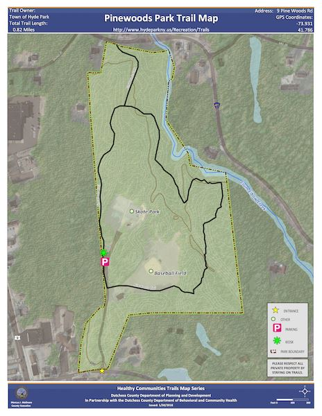 Pinewoods Park Trail Map