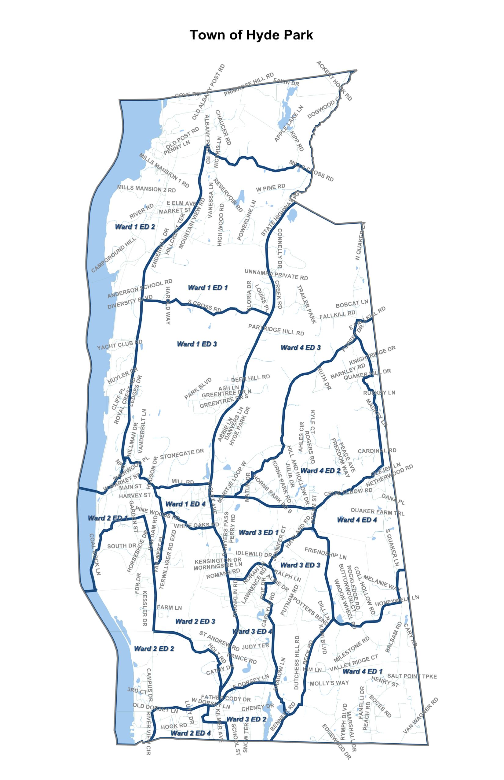 Town of Hyde Park Ward Map