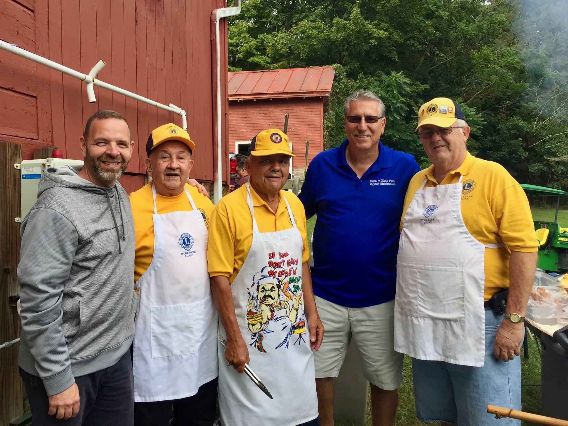 Ken Schneider, Ward 4 Councilperson, and Highway Superintendent  Howie Fisher and Hyde Park Lions Cl