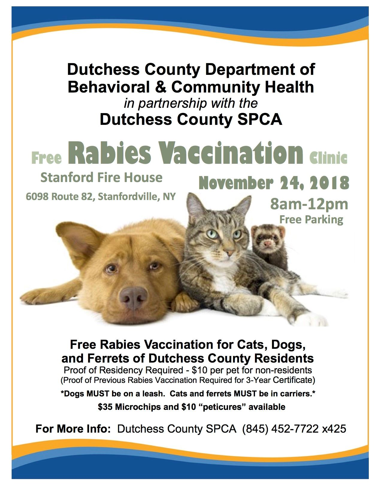 Rabies Vaccination Clinic Flyer
