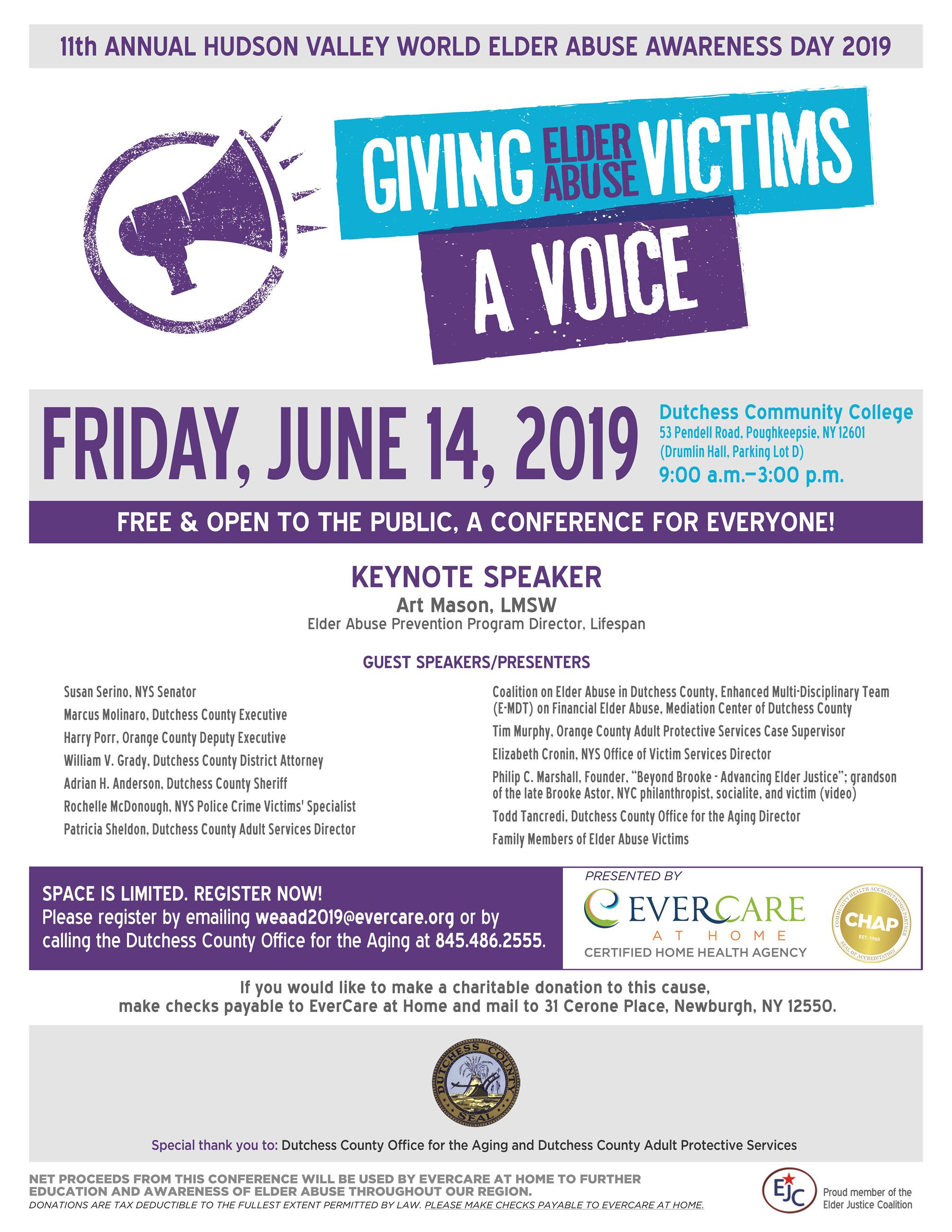 Elder Abuse Awareness Day 2019 Flyer