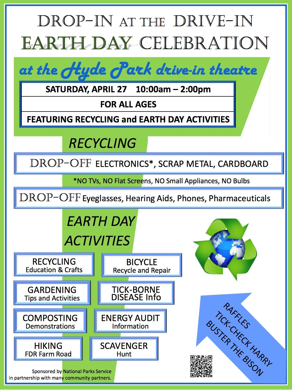 Hyde Park Drive-In Earth Day April 27 Flyer