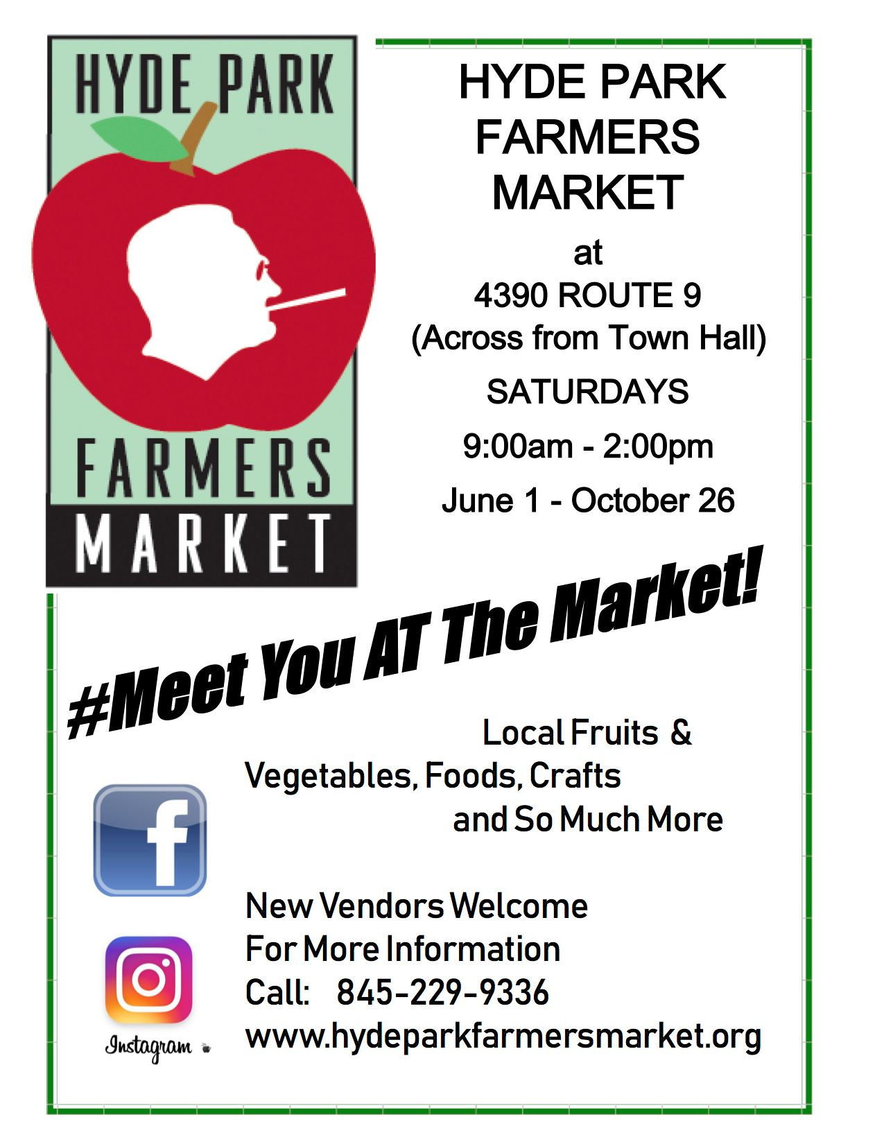 HYDE PARK FARMERS MARKET POSTER