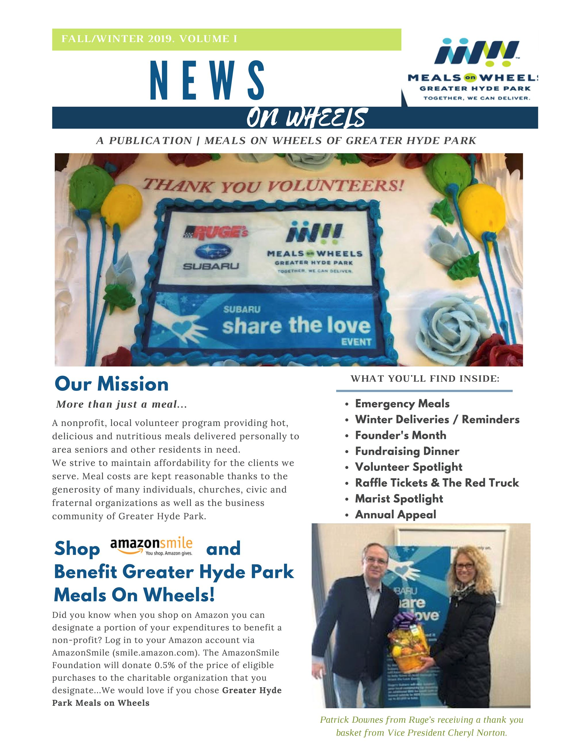Meals on Wheels Fall 2019 Newsletter Cover