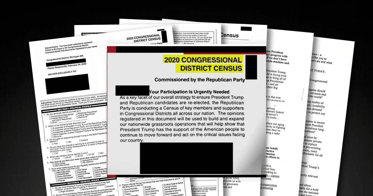 2020 Congressional District (Fake Census) Form