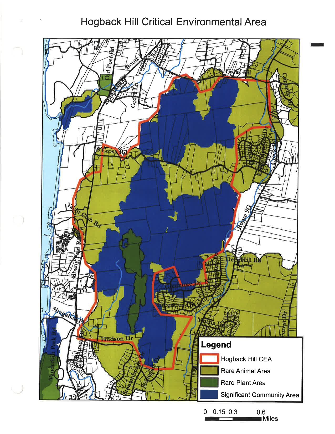 Hogback Hill Critical Environmental Area Map