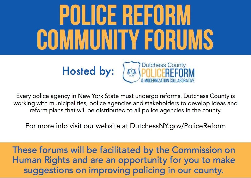 Police Reform Community Forum Flyer