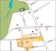 Location of Hyde Park Free Library
