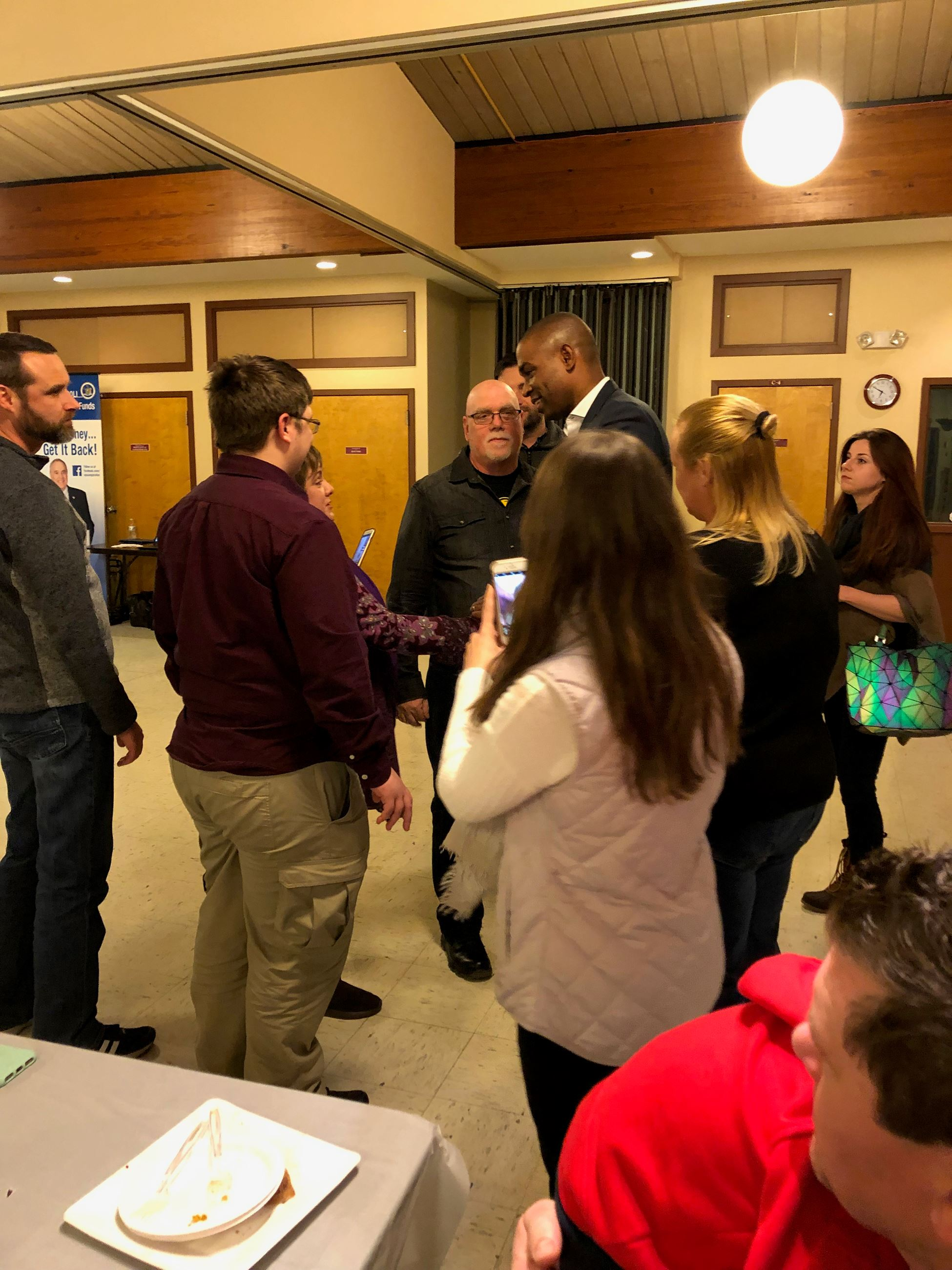 Rep. Antonio Delgado Greets Federal Workers and Their Families